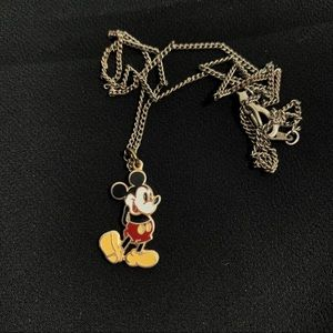 Vintage Mickey Mouse Pendant with Chain